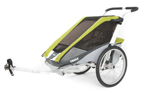 Thule-Chariot Cougar-1 2014-2015 avocado-grau-silber incl. Fahrradset CTS