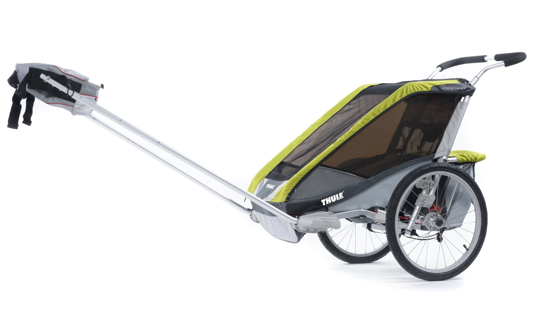 thule chariot cougar 1 2014 2015 avocado grau silber incl. Black Bedroom Furniture Sets. Home Design Ideas