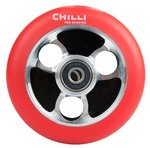 Chilli Pro Scooter Ersatzrolle Wheel Parabol 100mm red PU / black core