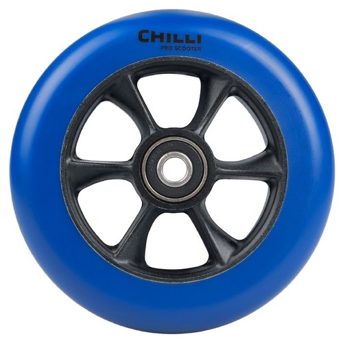 Chilli Pro Scooter Ersatzrolle Wheel Turbo 110mm blue PU / black core