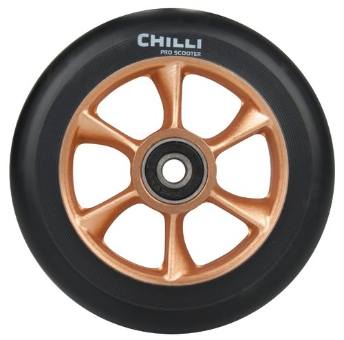 Chilli Pro Scooter Ersatzrolle Wheel Turbo 110mm black PU / gold core