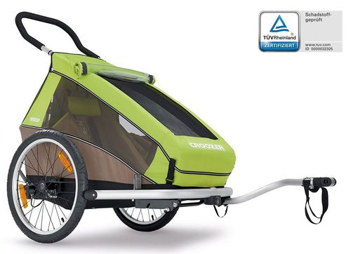 Croozer Kid for 1 ab 2016 mit Buggy- und Joggerset Einsitzer meadow green