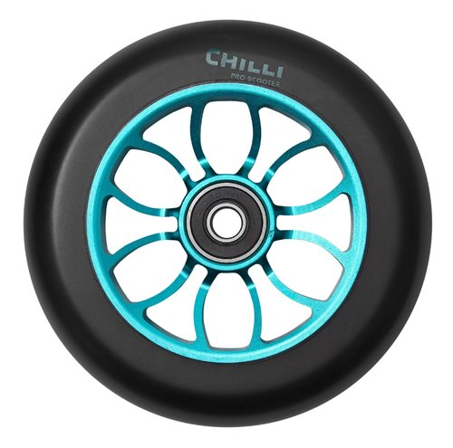 Chilli Pro Scooter Ersatzrolle Wheel Reaper 110mm black PU / blue core