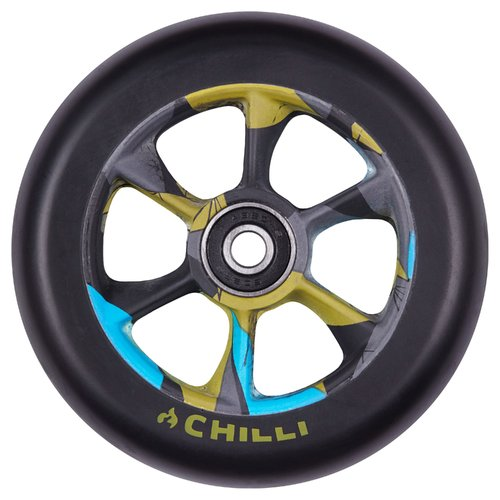Chilli Pro Scooter Ersatzrolle Wheel Turbo 110mm black PU / Urban Jungle core