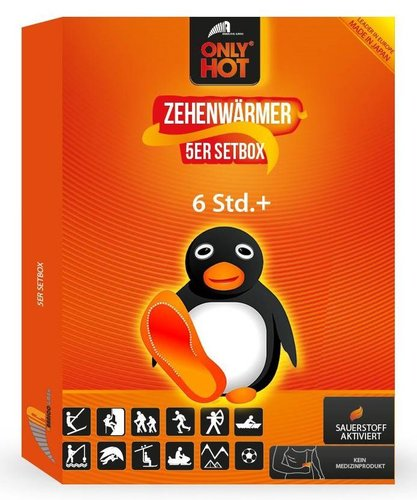 ONLY HOT® Toe-Warmer / Zehenwärmer 5 Paar Setbox