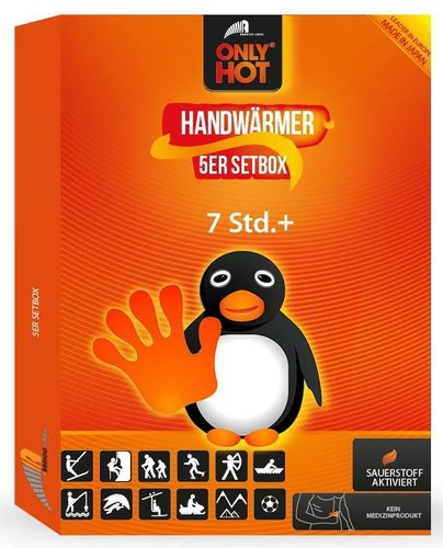 ONLY HOT® Hand-Warmer / Handwärmer 5 Paar Setbox