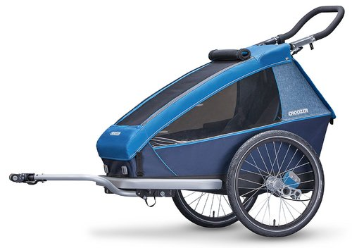 Croozer Kid Plus for 1 ab 2018 gefedert mit Licht, Fahrrad-, Buggy- und Jogging-Option ocean-blue