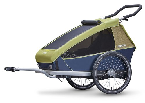 Croozer Kid for 2 ab 2018 mit Fahrrad-, Buggy- und Jogging-Option lemon-green
