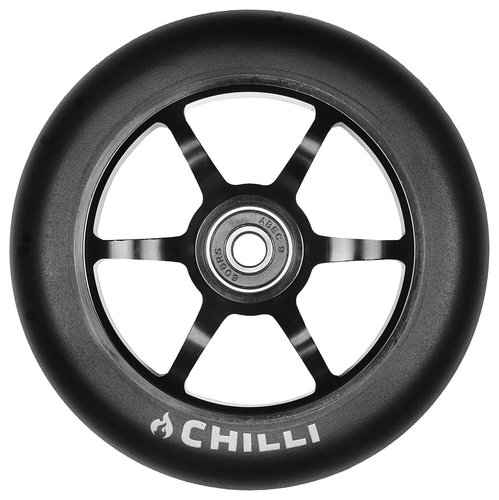 Chilli Pro Scooter Ersatzrolle Wheel 6-Spoked 120mm black PU / black core
