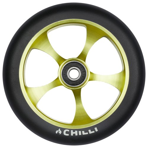 Chilli Pro Scooter Ersatzrolle Wheel Reaper-Reloaded Rebel 120mm black PU / lime core